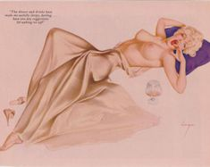 41# Rare Vintage Vargas Playboy Pin up Girl Picture nude Art