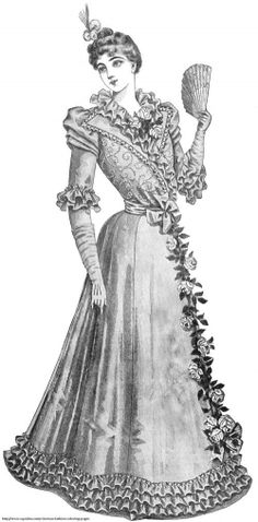 Free Printable Victorian Coloring Pages