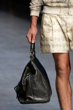 Dolce & Gabbana SS14 menswear - leather bag see www.veryFirstTo.com for more Dolce & Gabbana