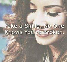 Fake a smile does not mean a person is fake at all..Accualy she is more real than a lot of people..Maybe she just lost trust in everyone but God to share her pain.