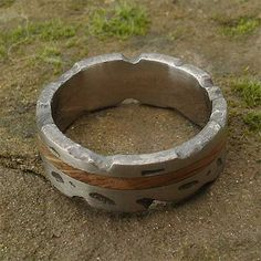 Wood Inlay Titanium Wedding Ring | LOVE2HAVE in the UK! Titanium Wedding Rings, Jewelry Rings, Jewellery, Precious Metals, Rings For Men, Jewelry Making, Texture, Wood, Outdoor Decor