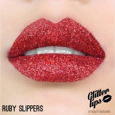 Glitter Lips - Ruby Slippers    Smudge Proof. Kiss Proof. Party Proof.    Whether you're on a night out with the girls or just up for some fun, Glitter Lips has unbelievable beauty and incredible staying power. You will be amazed how much attention wearing Glitter Lips creates.