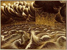 M.C. Escher (Dutch, 1898-1972) The 2nd Day of Creation, 1925
