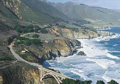 HWY 1 along the real Big Sur.