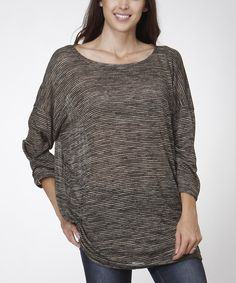 This Gray Boatneck Oversize Tunic by  is perfect! #zulilyfinds