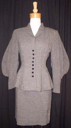 Vintageous, LLC - 1940's Lilli Ann Suit w/ AMAZING Sleeves, $355.00 (http://www.vintageous.com/1940s-lilli-ann-suit-w-amazing-sleeves/) The original Claire Underwood