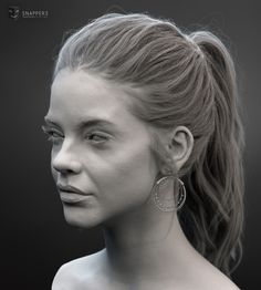A likeness, Shading and Grooming study Based on Barbara Palvin that we've been developing at Snappers. Worked on this Project also is my friend and teammate Mohamed Alaa. Rendering was done in Arnold using ALshaders and hair using Xgen. Facial Anatomy, Head Anatomy, Zbrush Character, Character Modeling, 3d Modeling, Zbrush Anatomy, 3 4 Face, Zbrush Tutorial, Female Head