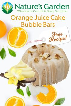 Free Orange Juice Cake Bubble Bars Recipe by Natures Garden