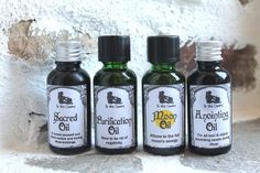 #Ritual oil set confining 4 different #essentialoil blends for all your ritual needs.  Saves 15% on buying individually by TheWitchChandlery on @etsy