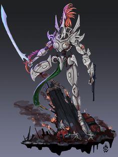 Warhammer Eldar, Warhammer 40k Memes, Warhammer Fantasy, Warhammer Empire, Salamanders Space Marines, Dark Eldar, Alien Concept, Warhammer 40k Miniatures, Monster Art