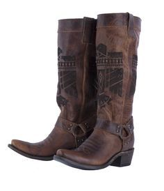 she who is brave boot- dark brown