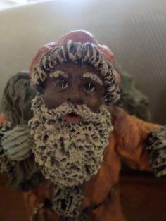 RARE, RET, LMT. ED June McKenna Flat Back African-American, Black Santa Figurine
