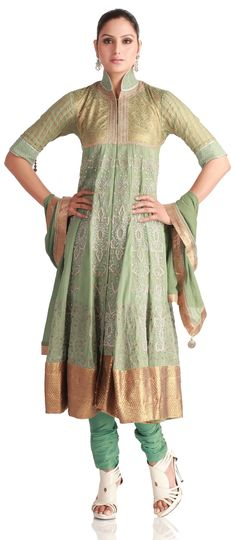 Front Open Jacket Styled Kurta #Churidar - SUITS - WOMEN'S WEAR - Diwali Special Collection