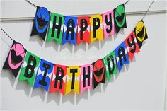 Power Rangers Happy Birthday Banner / Power Rangers Birthday