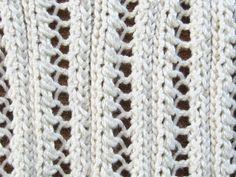 Eyelet Lace Ribbing Knitting Pattern
