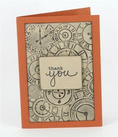 Thank you card by Annette using Kaisercraft embossing folder www.craftqueen.com.au