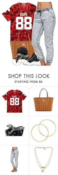 """""""July 28, 2k15"""" by xo-beauty ❤ liked on Polyvore featuring A BATHING APE, MCM, Melissa Odabash, Retrò, Bullhead Denim Co. and Bee Charming"""