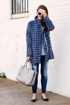 Blue Tweed Coat