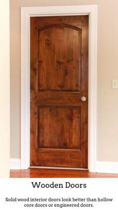 Wooden Doors. Wooden Doors Are Excellent If You Live In A Period House, Or  Just Wish To Add More Traditional Charisma To Your Home.