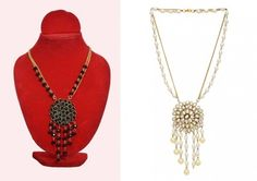 Alloy Studded Black And White Coloured Necklace Necklaces and Necklace Sets on Shimply.com