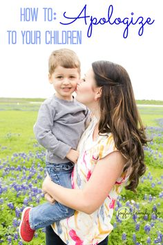 How to Apologize to your Children. What an important skill for parents to model to their children! From Joyful Family Life