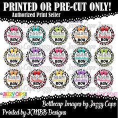 Printed  Precut: This is my Monday Bow Days of the by KMBBDesigns