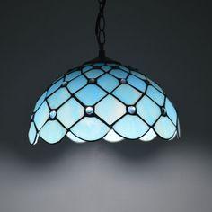 12 Inch Tiffany Pendant Light Mediterranean Sea Clear Glass Bead Dining Room Luminaires E27 110-240V(China (Mainland))