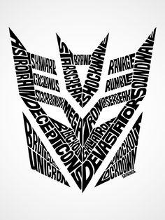 Transformers Autobots & Decepticons Type Designs Shop for ShirtsandPrints