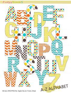 Clip Art Digital PDF PNG File-Alphabet and Number Set Dots ...