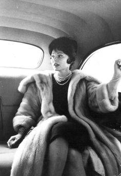 """maureensadoll: """"1968, Zsa Zsa Gabor, decked out in pearls and fur. """""""