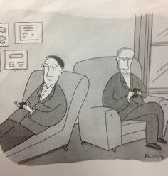 Modern psychotherapy.  Comic by P.C. Vey from The New Yorker  [http://www.pcvey.com]