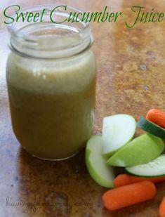 Sweet Cucumber Juice Recipe from Having Fun Saving and Cooking.