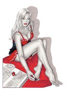 Disegnatrice per i periodici  Selen  e  Blue , Giovanna Casotto ha disegnato anche per riviste erotiche straniere. E' dedicata a lei e alle protagoniste dei suoi fumetti, sensuali e provocanti, la mostra 'Il punto C - Giovanna Casotto e i suoi amici', a Milano dal 7 giugno al 14 settembre 2014 da Wo