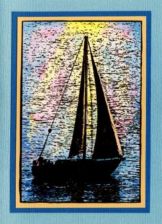 Card by Helen Conolly using Darkroom Door Sailboat Photo Stamp