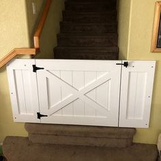Rustic Dog/ Baby Gate Barn Door Style w/ side panels Diy Dog Gate, Barn Door Baby Gate, Pet Gate, Custom Dog Kennel, Custom Dog Gates, Safety Gates For Stairs, Pallet Barn, Laundry Room Doors, Baby Gates
