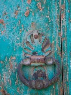 Porta azul....