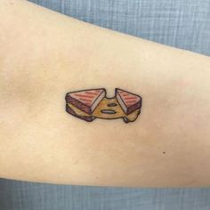 Tiny grilled cheese sandwich. Thanks Kim for always getting fun little tattoos and for sending over a picture! Looking forward to seeing it healed up :) Tribal Tattoos, Subtle Tattoos, Tattoos Skull, Pretty Tattoos, Mini Tattoos, Body Art Tattoos, Stomach Tattoos, Celtic Tattoos, Feather Tattoos