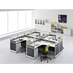 Multi-function 4 seats aluminum office partition office screen partion