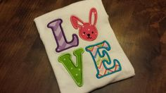 Easter Love Embroidery Shirt FREE US by SouthernBlingBowtiqu, $23.00