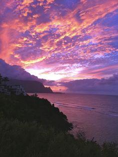 Bali Hai, near Hanalei Bay, Kauai, Hawaii. Unforgetable!