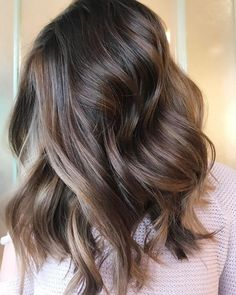 """@stephanie_stylist on Instagram: """"I can picture this gorgeous chocolate dream hair with a red chunky sweater, ripped jeans & a pair…"""""""