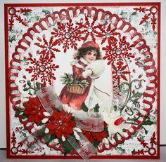 Unnis Papirhobby: 3 røde julekort