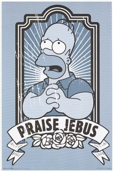 The Simpsons (Praise Jebus) TV Poster Print Simpsons Quotes, The Simpsons, Animation, Cartoon Tv, Futurama, Geek Out, Cultura Pop, Anime, Nerdy