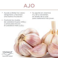 Además de dar sabor a tus plato, es muy bueno para tu organismo #ajo #salud #alimento