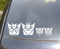Decepticons Family Car Sticker Now with Decepticons Cat and Dog. $11.50, via Etsy.