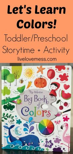 teaching colors, learning colors, color recognition, books about colors for toddlers, books for toddlers and preschoolers, preschool activities, color activities, big book of colors