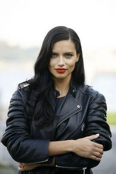 Adriana Lima hair and makeup