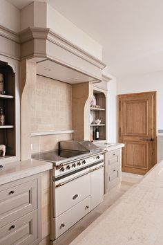 Range Cooker Hood Ideas Range Cooker And Hood Kitchen Hoods, Stone Kitchen, Kitchen Pantry, Kitchen Slab, Kitchen Cupboards, Beach House Kitchens, Home Kitchens, Grey Kitchens, Filter