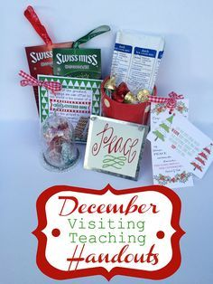 Marci Coombs: December Visiting Teaching Handouts with FREE printable tags..