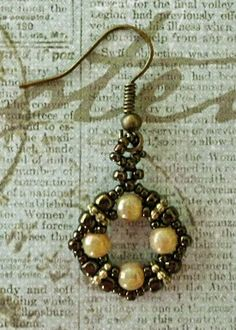 Linda's Crafty Inspirations: Playing with my beads...some very tiny earrings